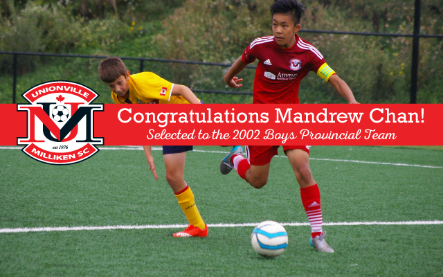 Mandrew Chan named to 2002 Provincial Team